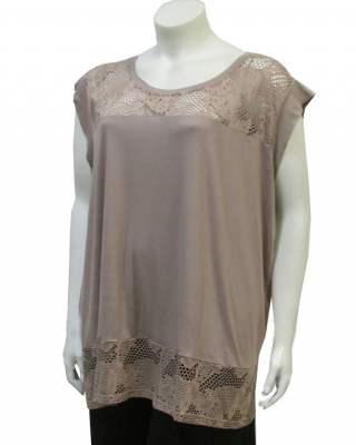 Блуза дантела модал