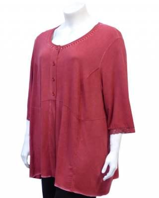 Блуза рязана в талията