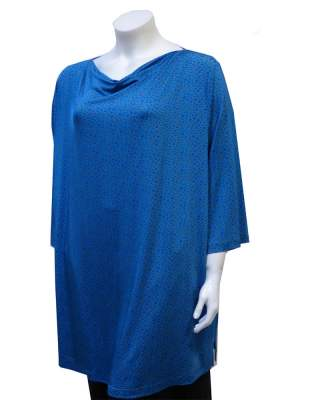 Блуза гръцко деколте ситна шарка