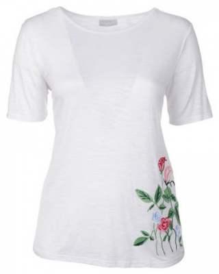 Блуза бяла с цвете