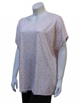 Блуза розова камъни