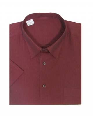 Риза екстра къс ръкав бордо