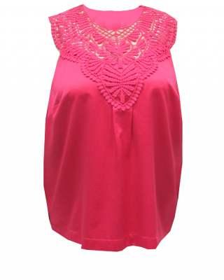 Блуза  с дантела