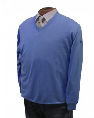 Пуловер März син