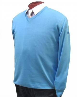 Пуловер März светлосин