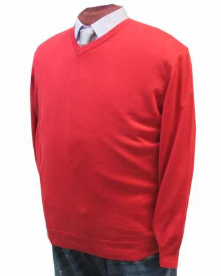 Пуловер März червен