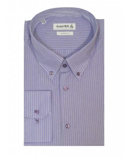 Риза Jacques britt райе дълъг ръкав