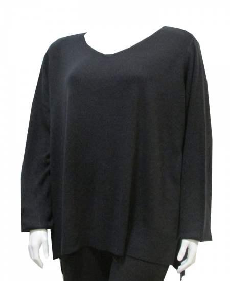 Пуловер Дълъг гръб шпиц
