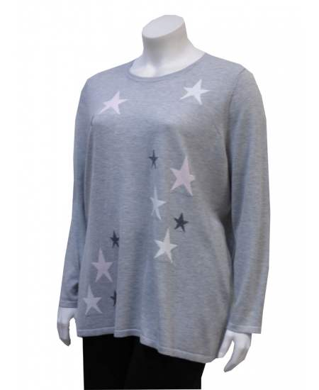 Пуловер сини звезди