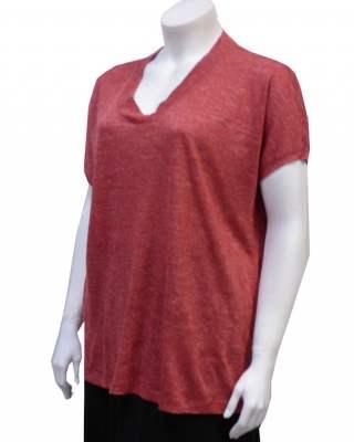 Блуза червен лен