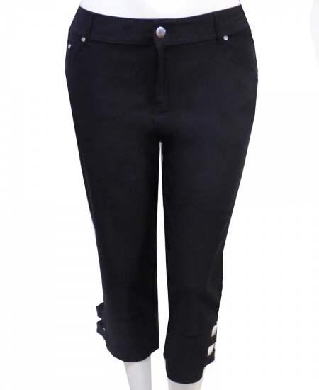 Панталон средни черни еластични