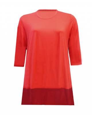 Блуза с шифон червена