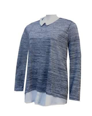Пуловер бяла яка