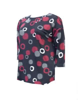 Блуза червени кръгове