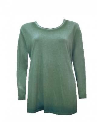 Пуловер преливащ блестящо бие