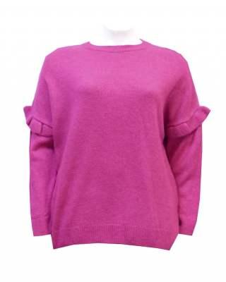 Пуловер ръкав с къдри