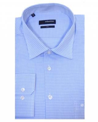 Риза Seidensticker пепит дълъг ръкав