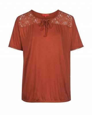 Блуза брик дантела