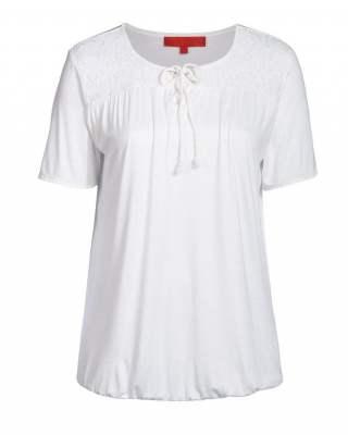 Блуза бяла дантела