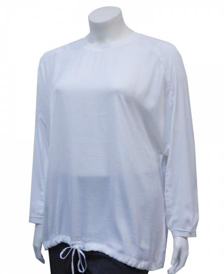 Блуза бяла реглан