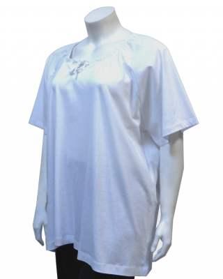 Блуза бяла връзки