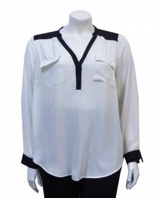 Блуза Бяло и черно
