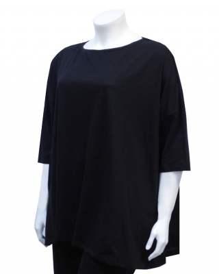 Блуза черна среден ръкав