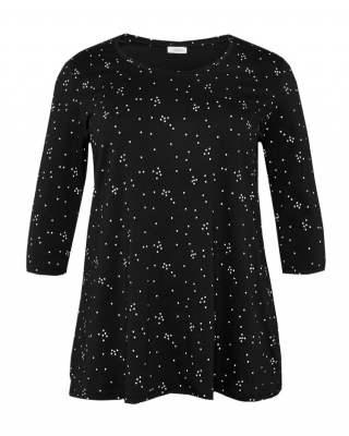 Блуза черна точки