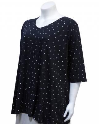 Блуза черна на звездички