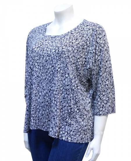 Блуза Черно- бяла