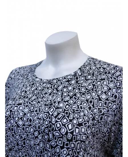 Блуза черно - бяла шифон