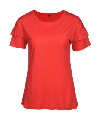 Блуза червена къдри