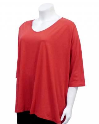 Блуза червена среден ръкав