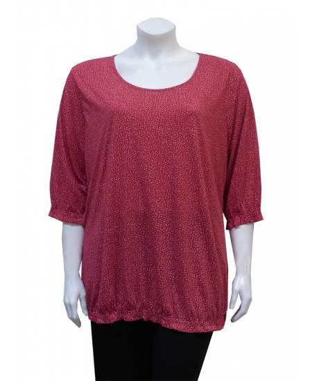 Блуза червена на точки