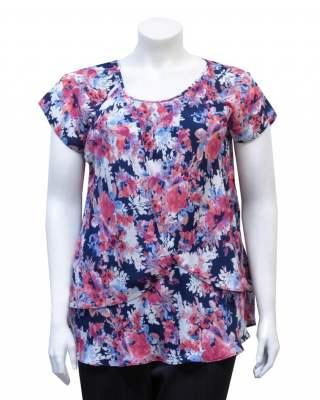 Блуза Двойна цветна