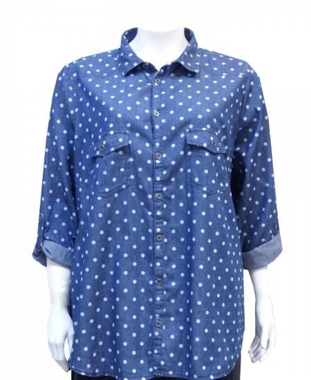 Блуза дънкова точки