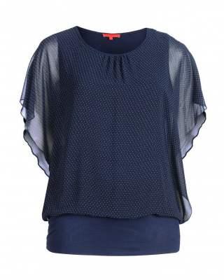 Блуза Фантазия в синьо