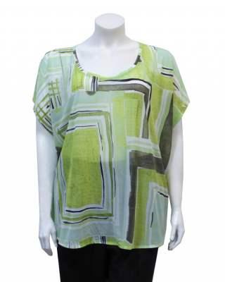 Блуза Фигури в зелено