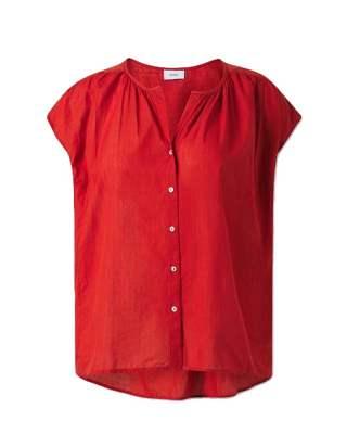 Блуза фино райе брик