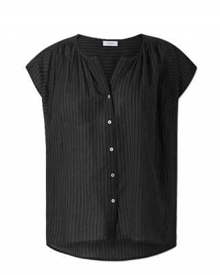 Блуза фино райе черно