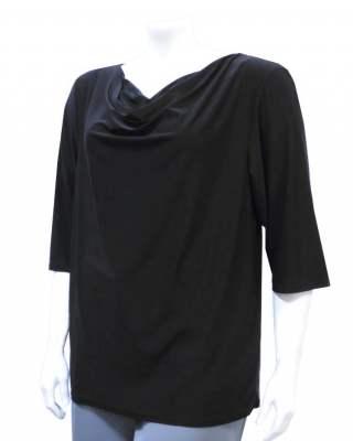 Блуза гръцко деколте черна