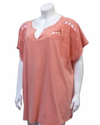 Блуза корал бродерия