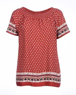 Блуза кънтри брик