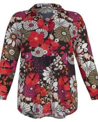 Блуза Огнени цветя