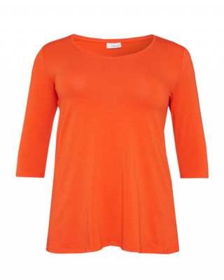Блуза оранжева среден ръкав