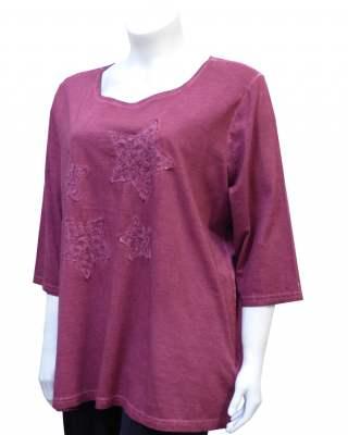 Блуза памук винтидж звезди