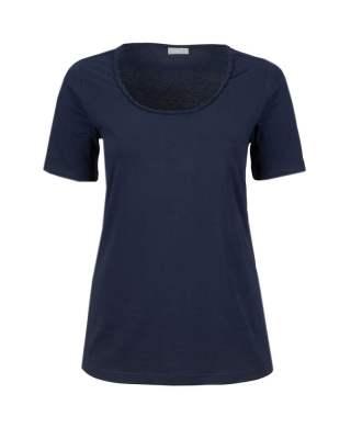 Блуза плитка в тъмносиньо