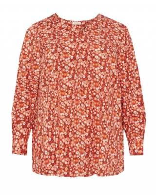 Блуза плоха цветя корал