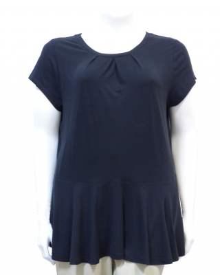 Блуза Плохи волан в черно