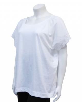 Блуза реглан дантела